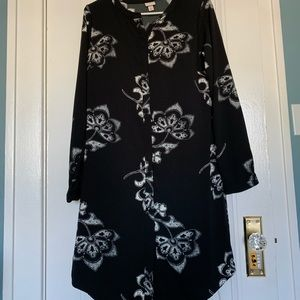 Merona black and white floral dress